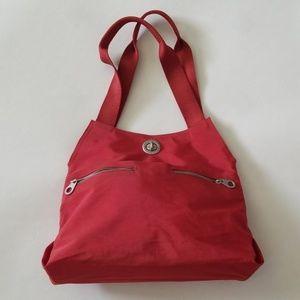 BAGGALLINI burnt orange canvas shoulder bag